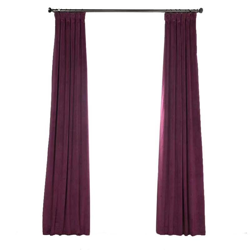 Purple Blackout Curtain Minimalist Velvet Curtain Bedroom Living Room Study Fabric Velvet Curtains Bedroom Curtains Bedroom Blackout Curtains