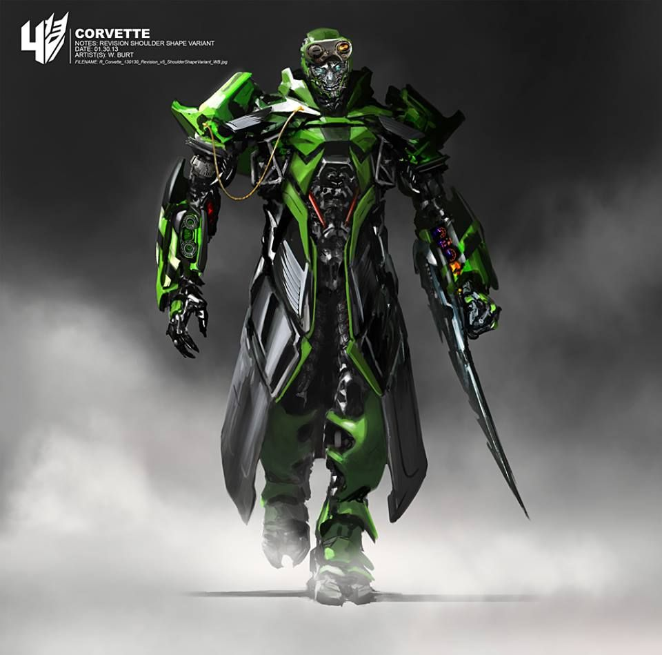 Transformers Age Of Extinction Concept Art From Wesley Burt