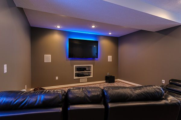 Build a room addition in any number of ways to your existing structure. Small Media Room Ideas | Small media rooms, Bedroom ...