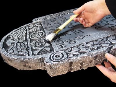 How to make styrofoam tombstones for Halloween.