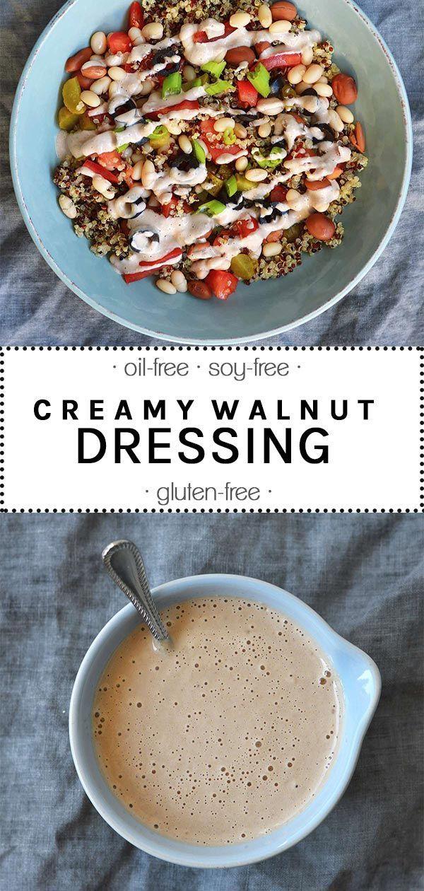 Creamy Walnut Dressing Creamy walnut dressing Vegan Coleslaw vegan oil free coleslaw