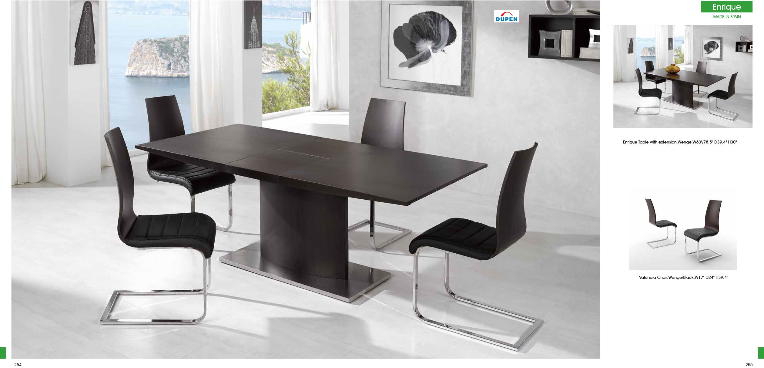 Exciting Espresso Rectangular Pedestal Base Dining Table With 4 Endearing Ultra Modern Dining Room Decorating Design