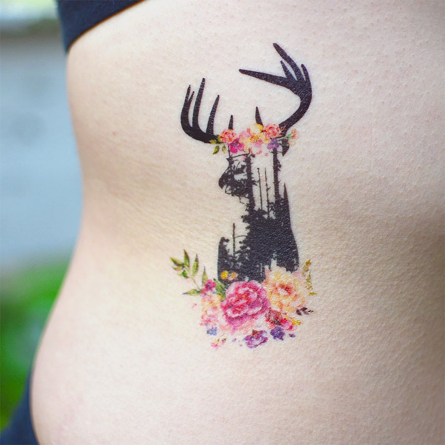 Geometric Abstract And Floral Watercolor Tattoos Express With Ink