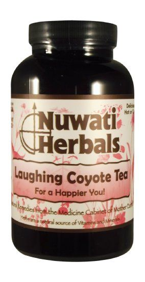 Nuwati Herbals Laughing Coyote Tea, 4 Ounces: For a Happier You. Be happy! Lighten your mood and calm your mind, body, and spirit with this natural tea.