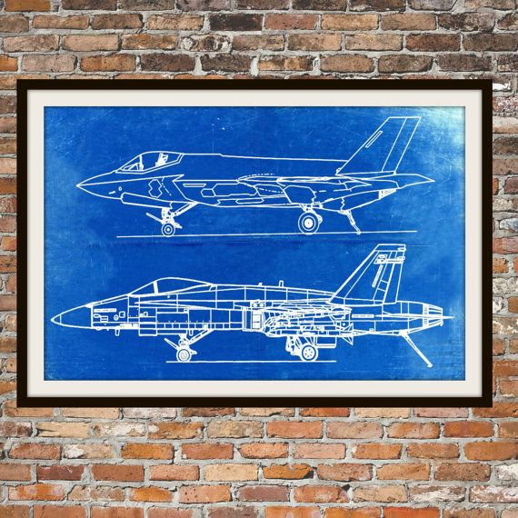Blueprint art of naval jet plane technical by bigbluecanoe on etsy blueprint art of naval jet plane technical by bigbluecanoe on etsy malvernweather Image collections