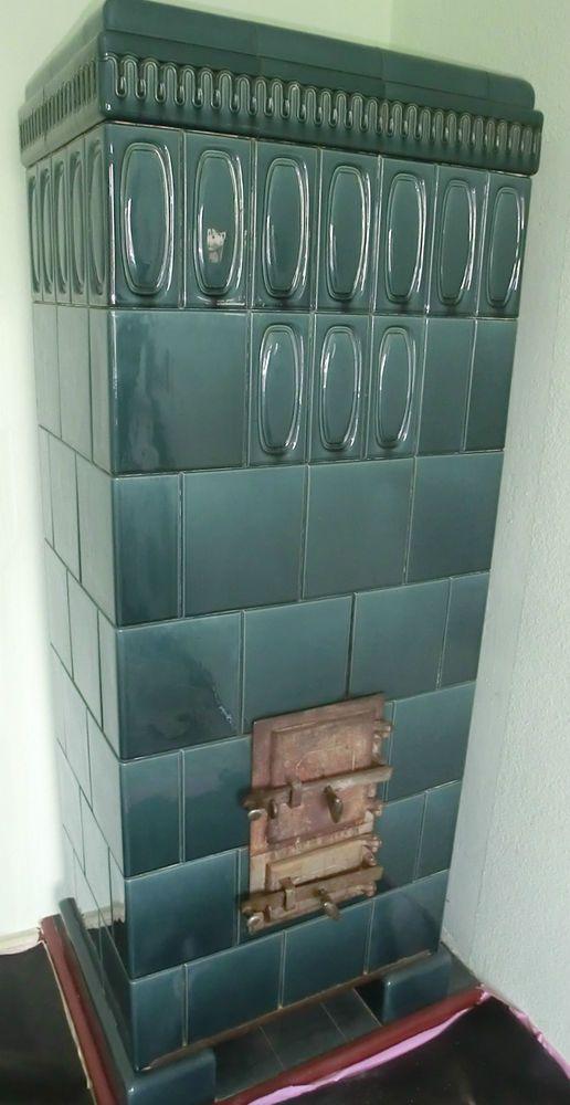 Schlichter Antiker Kachelofen Abgebaut Von 1928 Kachelofen Kacheln Ofen