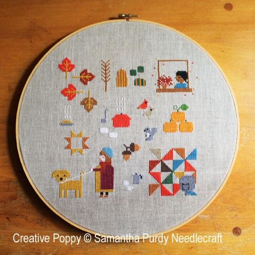 Autumn Sampler cross stitch pattern by Samanthapurdyneedlecraft