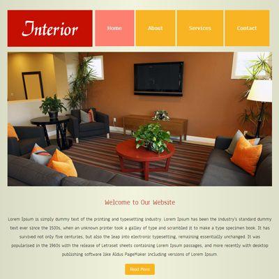 Interior Free #Responsive #HTML5 #CSS3 #Mobileweb Template - wohnzimmer orange weis
