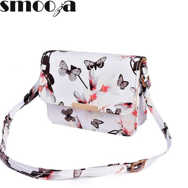 9d56a88d6e07 SMOOZA Women Floral leather Shoulder Bag Handbag Retro Female Small  Messenger Bag Famous Designer Clutch Shoulder Bags Bolsa Review