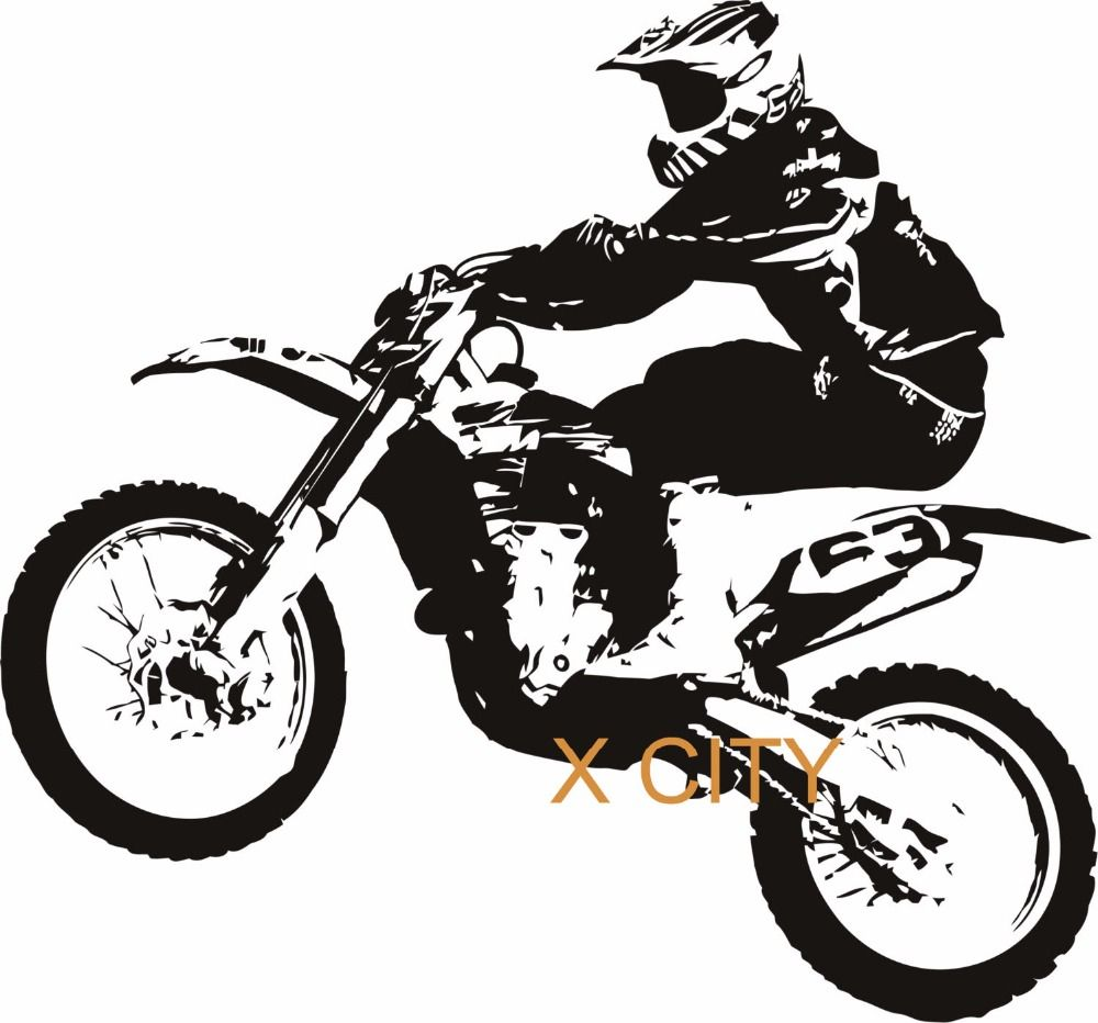 MOTOCROSS MOTORBIKE COOL SPORT Creative Vinyl Wall Decal Art Home - Cool custom motorcycle stickers