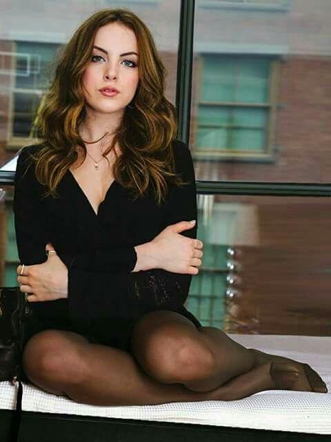 Tweed Elizabeth Gillies Elizabeth Olsen Pantyhose Outfits Nylons