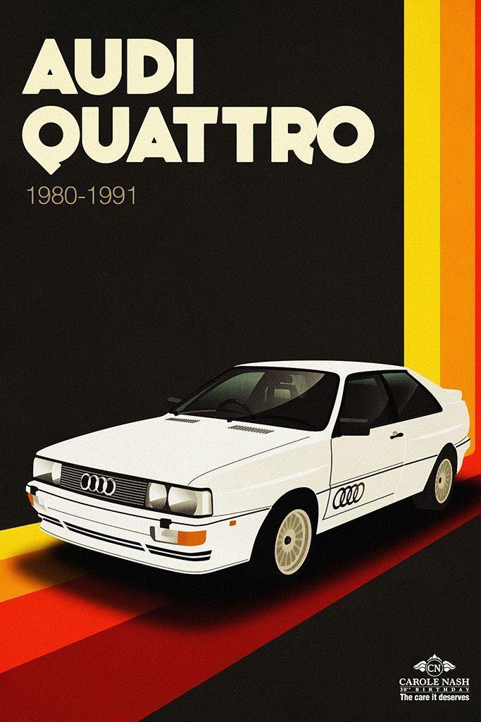 Audi Quattro Classic Car Art Poster – Audi Photos