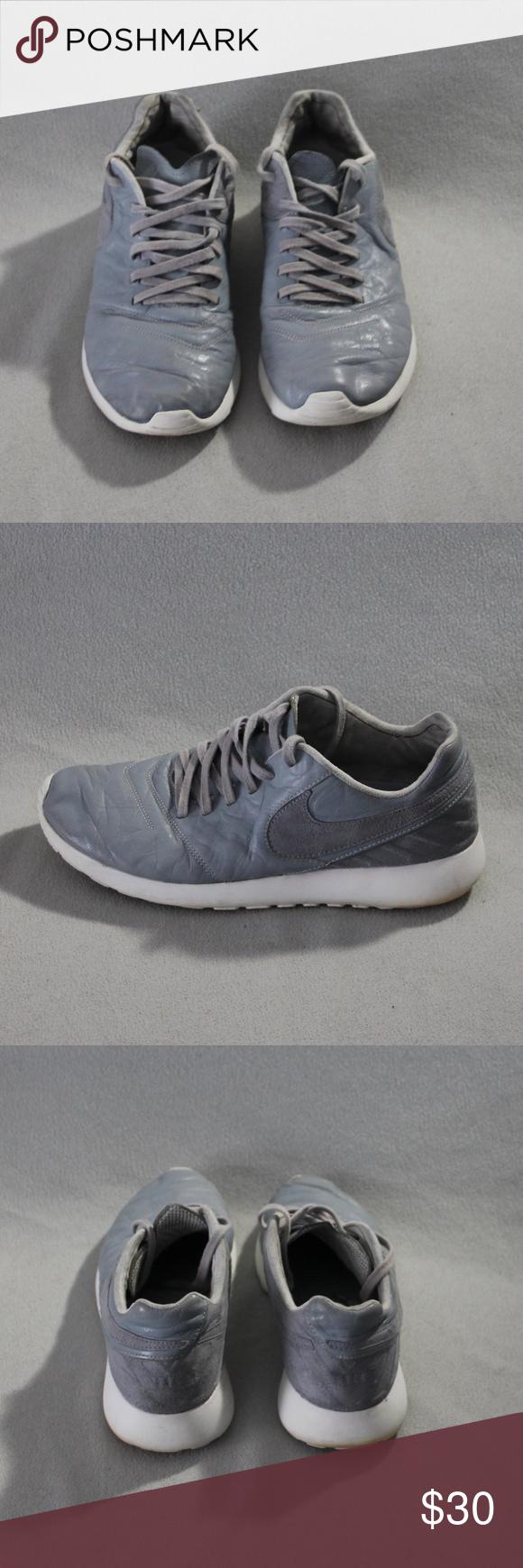 f3e4ce899612 Nike Roshe Tiempo VI QS Wolf Grey White Sneakers Pre-owned Nike Roshe  Tiempo VI