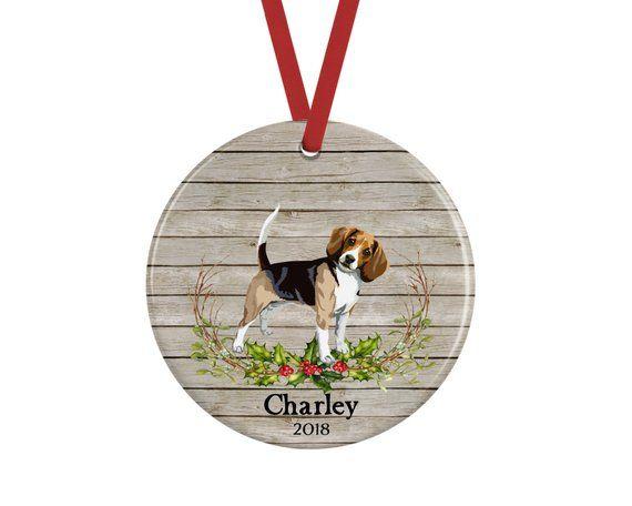 Personalized Beagle Christmas Ornament Christmas Ornaments