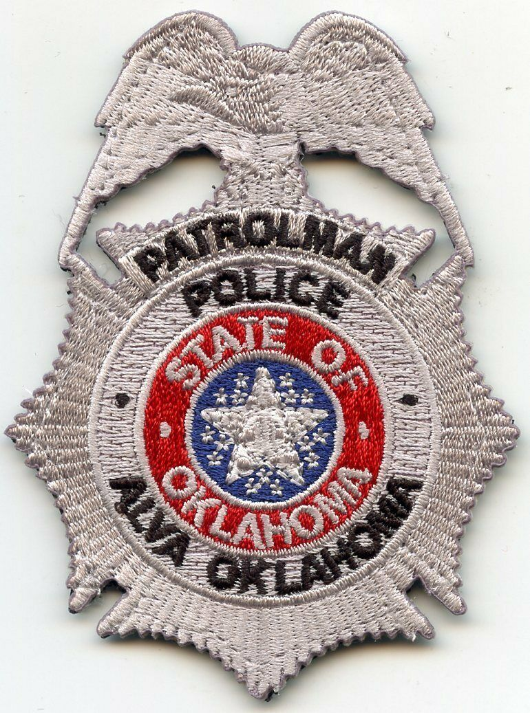 Us State Of Oklahoma City Of Alva Police Department Cloth Badge Cloth Badges Police Badge Badge