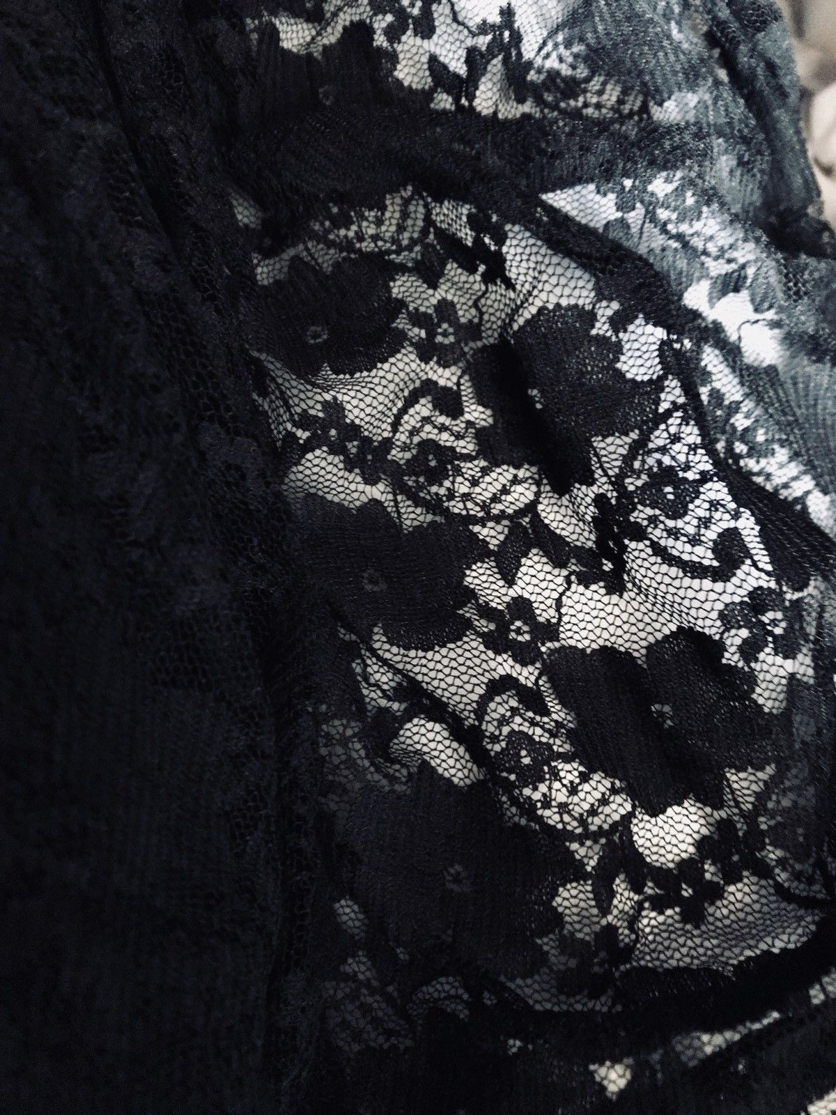 SALE Designer Fabric Stretch Lace Black By the Yard