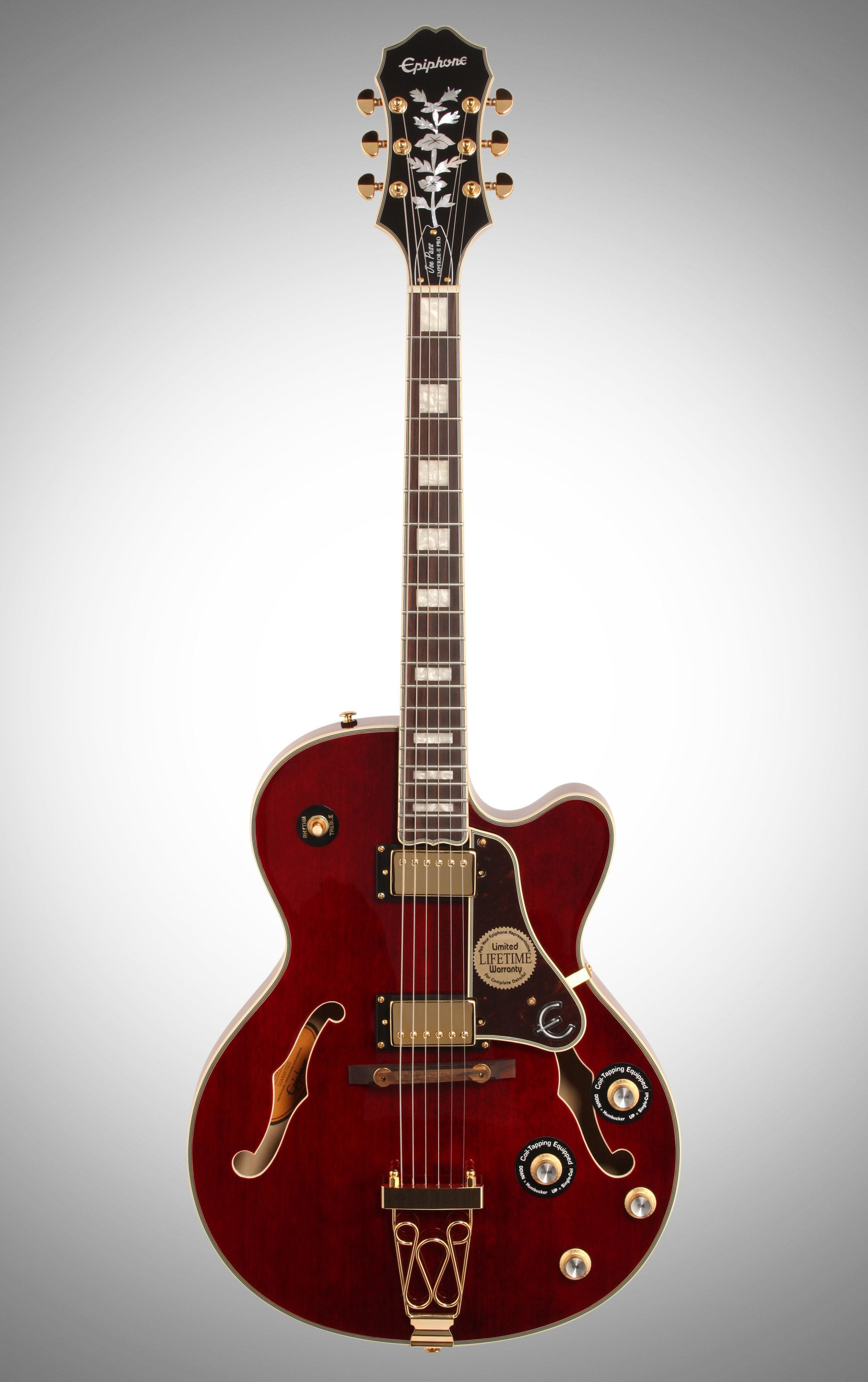 Epiphone Joe Pass Emperor Ii Pro Guitar Epiphone Custom Electric Guitars Red Electric Guitar