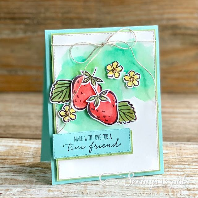 Sweet Strawberries for Hand Stamped Sentiments #35