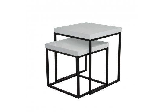 Bialy Nowoczesny Stolik Kawowy Prairie 50cm Lakierowany Na Wysoki Polysk Nogi Metalowe Czarne 1 Coffee Table Furniture Home Decor