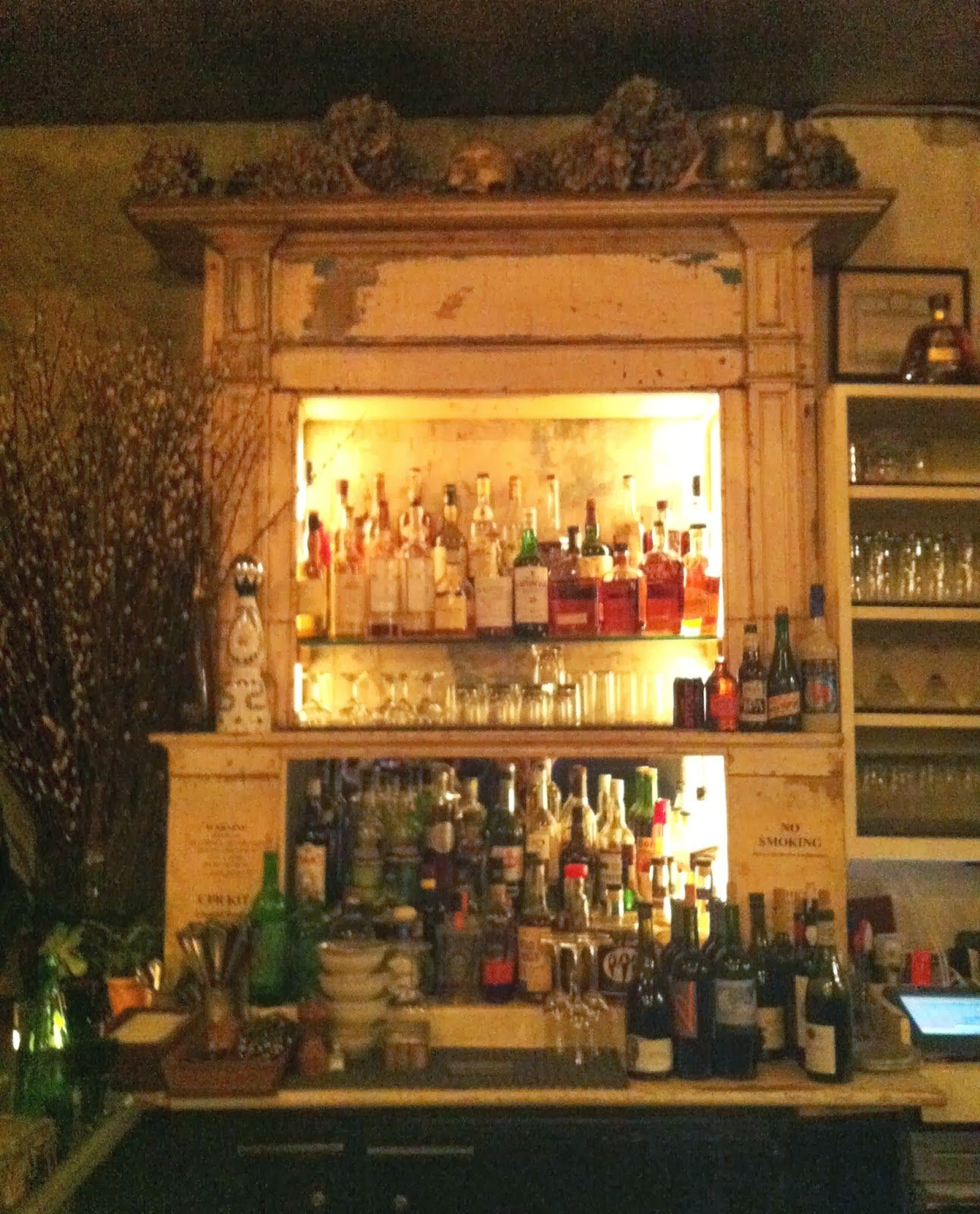 Weathered Bar, This Looks Like An Old Fireplace, Lit Up