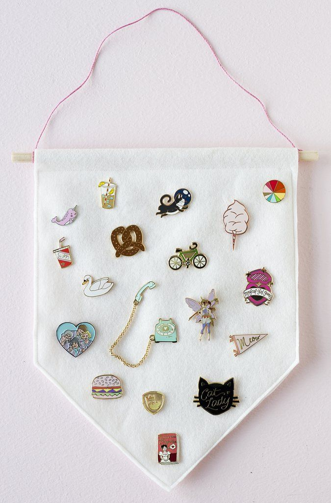 DIY Enamel Pin Banner | Pinterest | Felt banner, Pin collection and