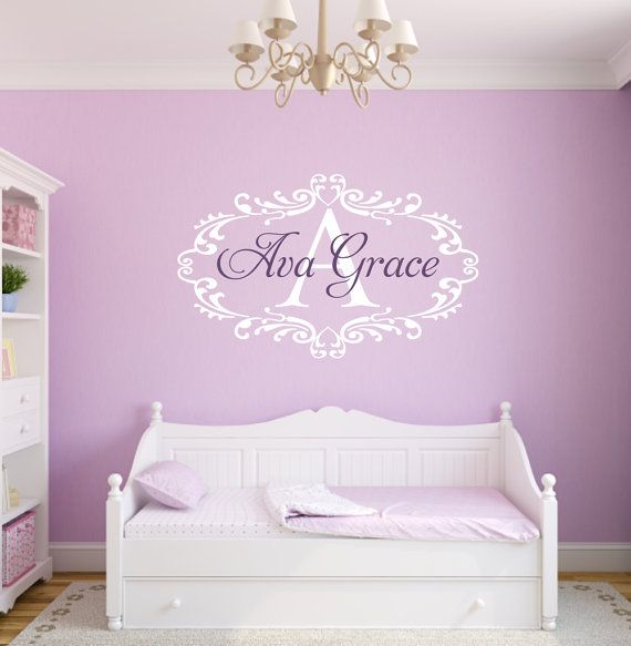 Vinyl Decals Nursery Wall Art Name Wall Decal Baby Nursery - Custom vinyl wall decals nursery