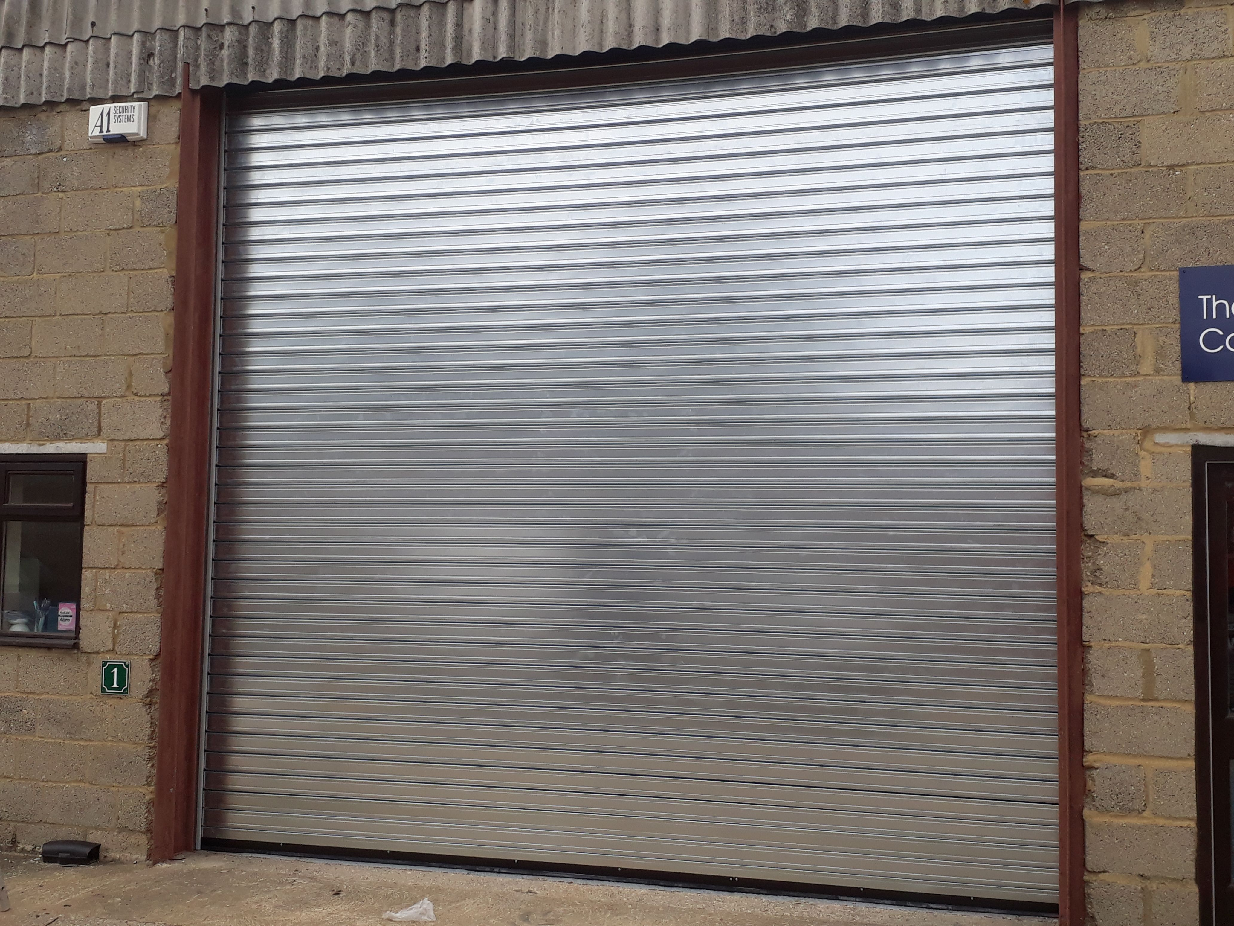 Steel Insulated Roller Shutter Fitted In Alton Hampshire Roller Shutters Shutters Blinds