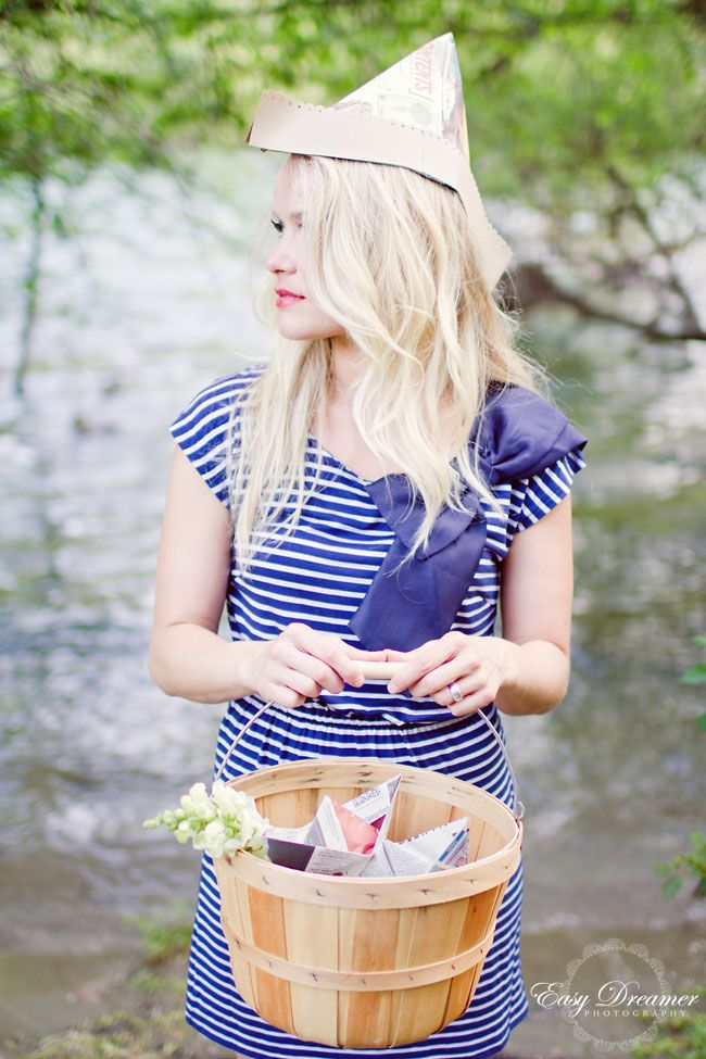 Want this paper hat!!  Summery Shoot by La Lune Events & Easy Dreamer Photography
