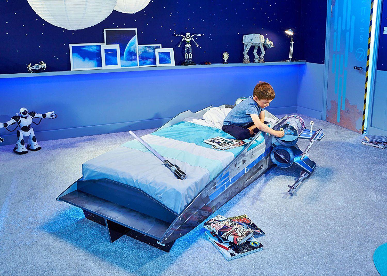Star Wars X-Wing Einzelbett | Kinderbett im Raumschiff Design | Star ...