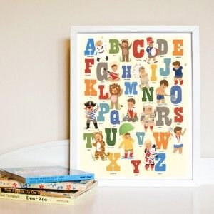English Alphabet Boy