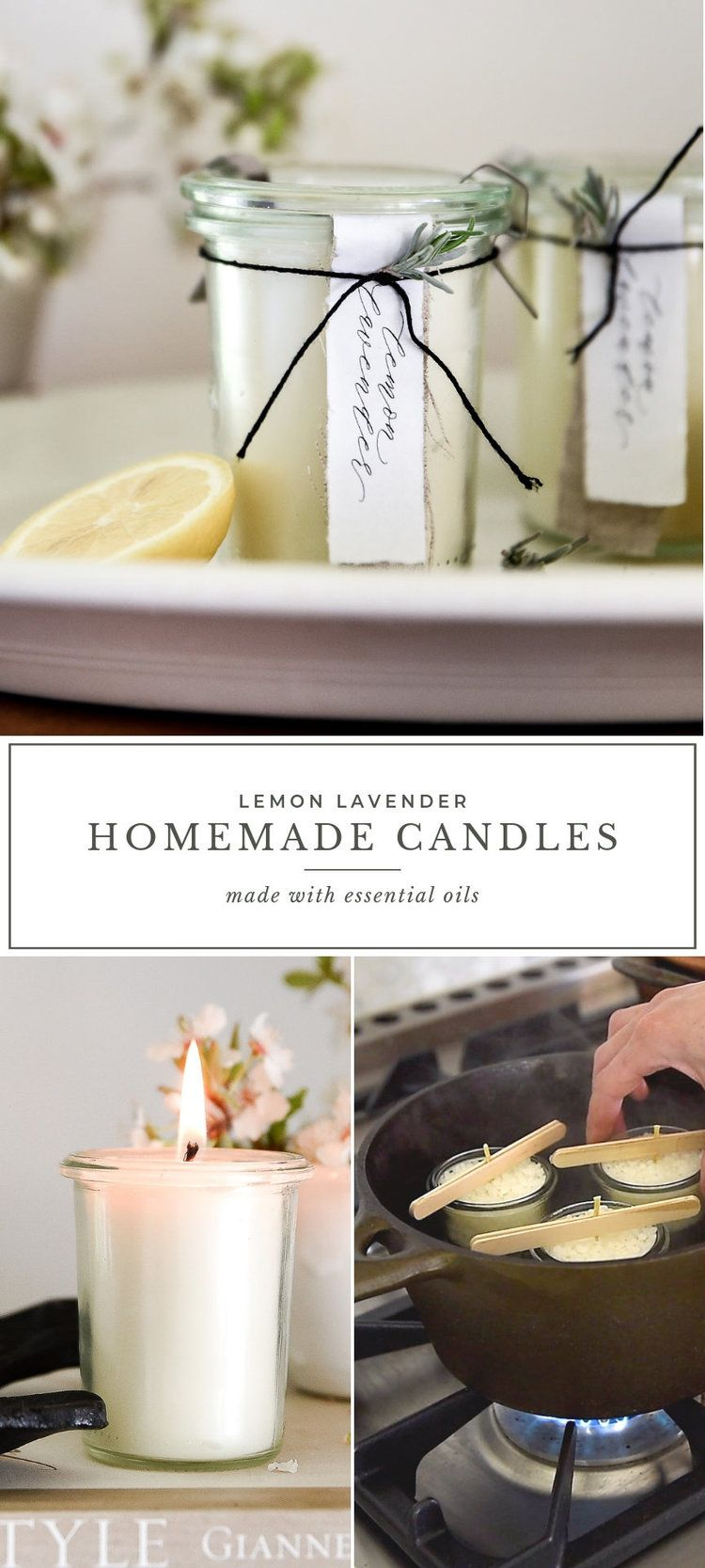 Homemade Candles with Essential Oils (With images