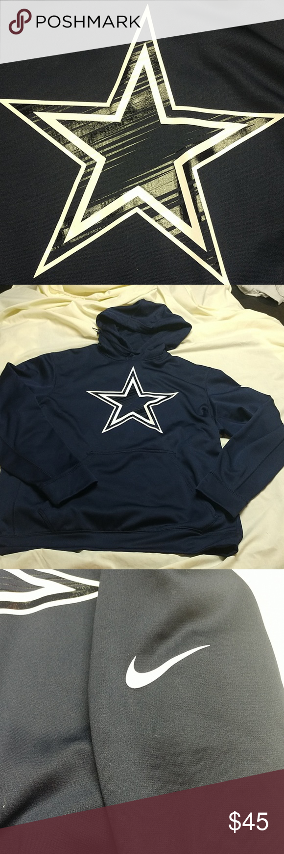 size 40 c526e b15c8 Nike Dallas Cowboys hoodie NWOT, Nike Dallas Cowboys therma ...