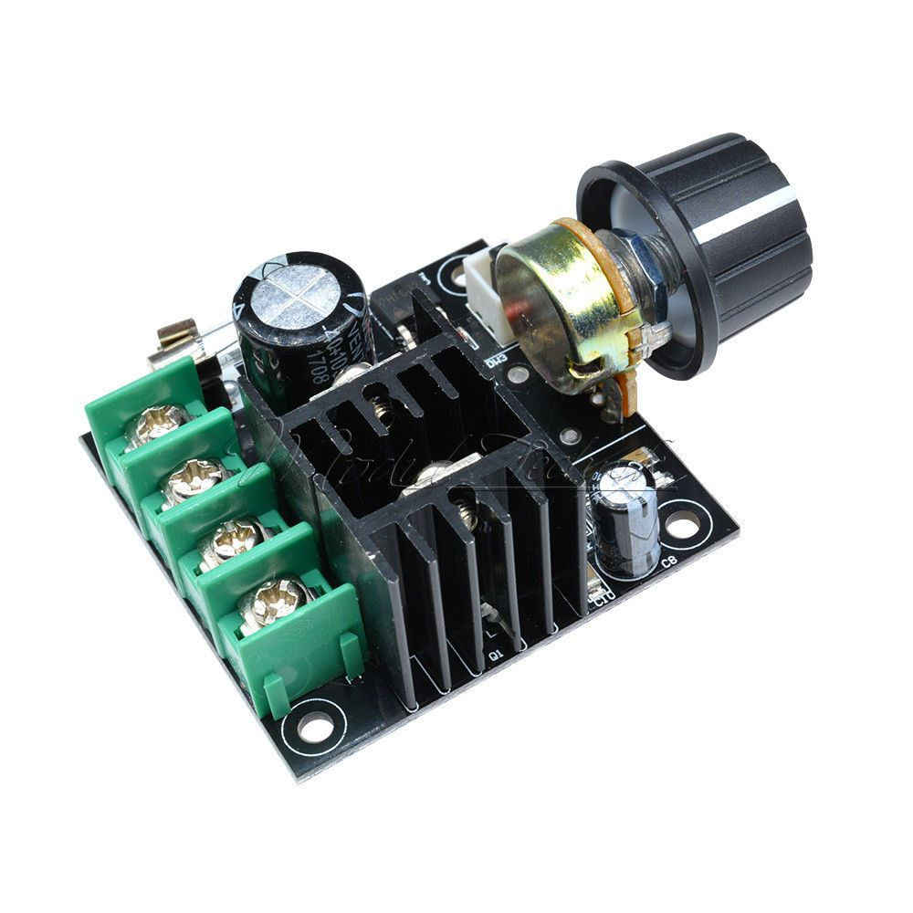 12v 40v 10a Pwm Dc Motor Speed Control Switch Controller Volt Regulator Dimmer M Ebay Motor Speed Electronics Circuit Dimmer