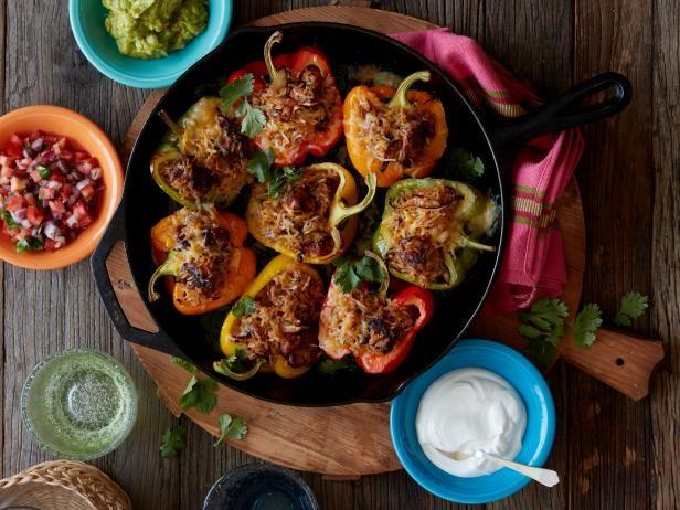 Healthy Chicken Fajita Stuffed Peppers Recipe Food Network Recipes Stuffed Peppers Recipes