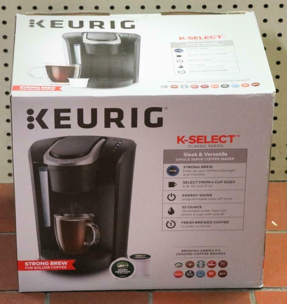 New Keurig K Select K80 Programmable Single Serve Coffee Maker Matte Black Coffee Makers In 2020 Single Serve Coffee Makers Coffee Maker Reviews Bunn Coffee Maker