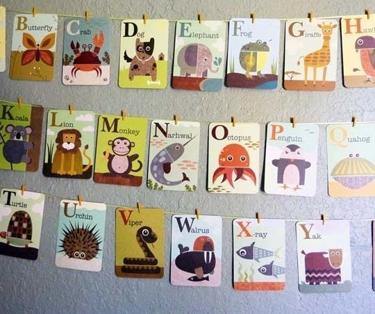 10 Ways To Hang And Display Alphabet Cards Abc Flashcards Abc Cards Flashcards