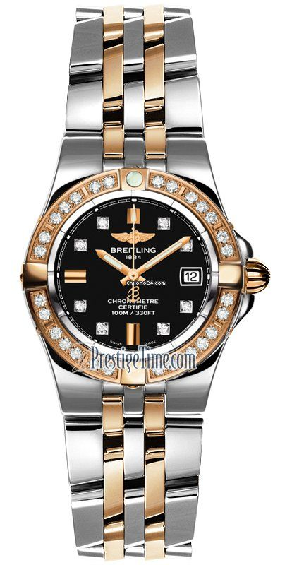 Breitling Galactic 30 $8,747 #Breitling #watch #watches #chronograph gold/steel case, gold/steel, bracelet, quartz movement