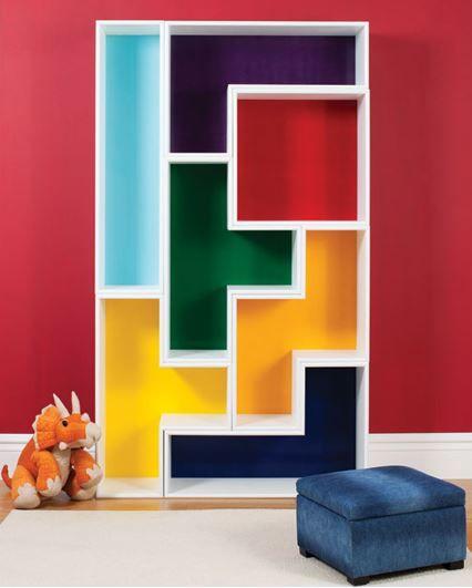Meuble à faire soi-même : La bibliothèque multicolore Tetris pour ...