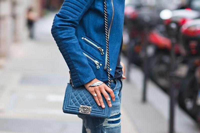 569909dd8cbd Jeans Chanel Boy Bag | Bags | Fashion, Fashion gallery, Denim party