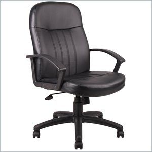 Boss Office Products Leather Contemporary Executive Office Chair