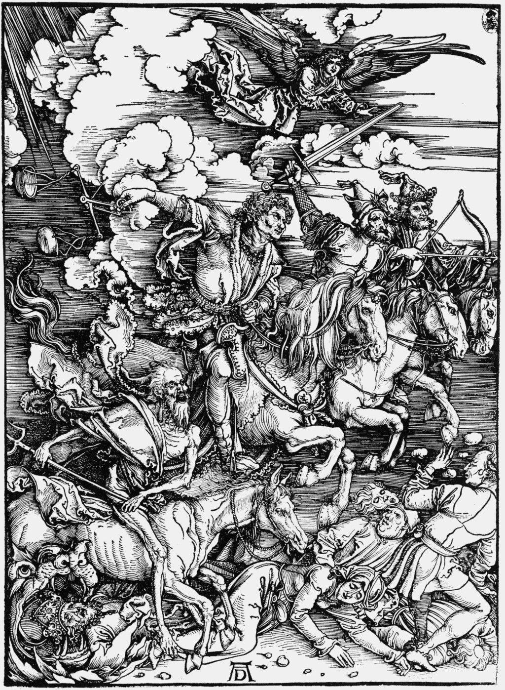 Albrecht Dürer, woodcut, The Four Horsemen of the Apocalypse