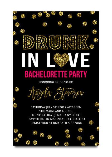bachelorette party invitation drunk in love bachelorette party