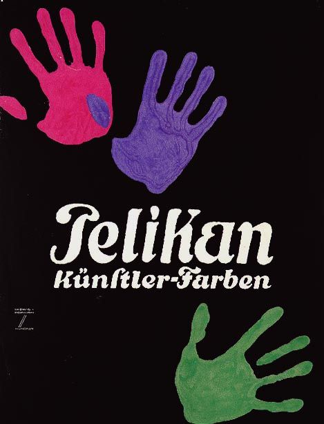 Hohlwein - Pelikan #afficheobjet #jetudielacom