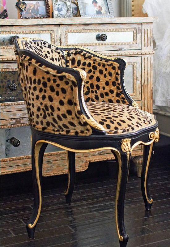 Faboo Leopard Print Vanity Chair Chair Furniture Printed Chair