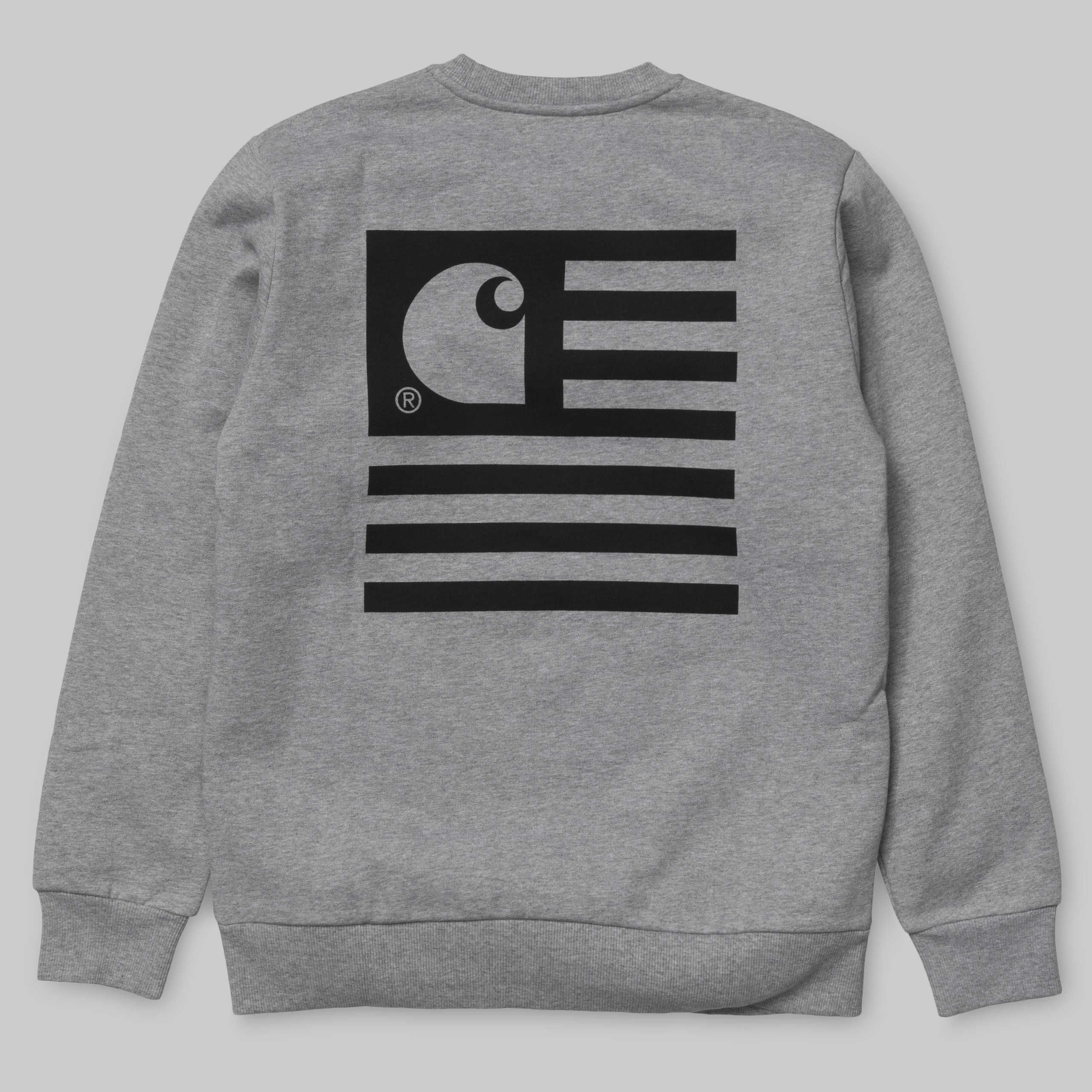 Carhartt Wip State Flag Sweatshirt Carhartt Wip Com Sweatshirts Heather Black Carhartt [ 2560 x 2560 Pixel ]