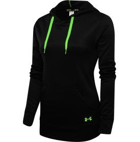 Under Armour Women s Edge Hoodie - Dick s Sporting Goods. Black and green  ... 6f196a298
