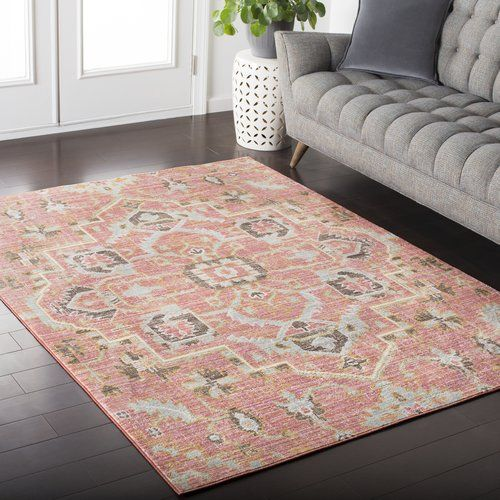 Found it at Joss & Main - Stefan Pink/Yellow Area Rug | Buying a ...