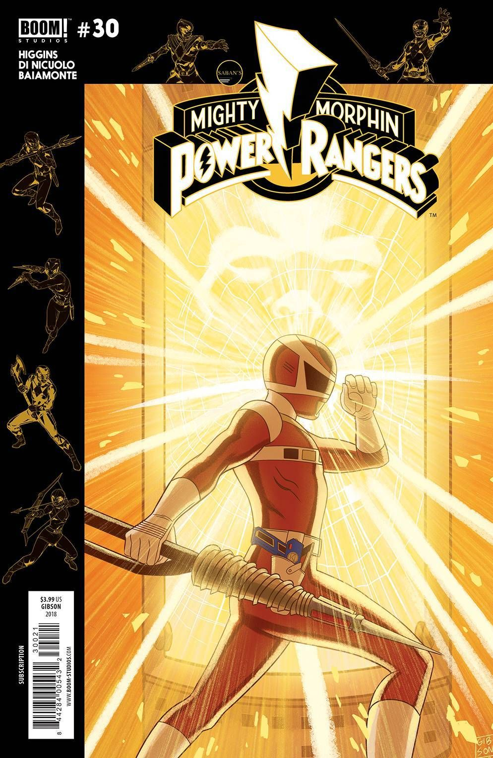 BOOM Studios MIGHTY MORPHIN POWER RANGERS #28 first printing sub variant