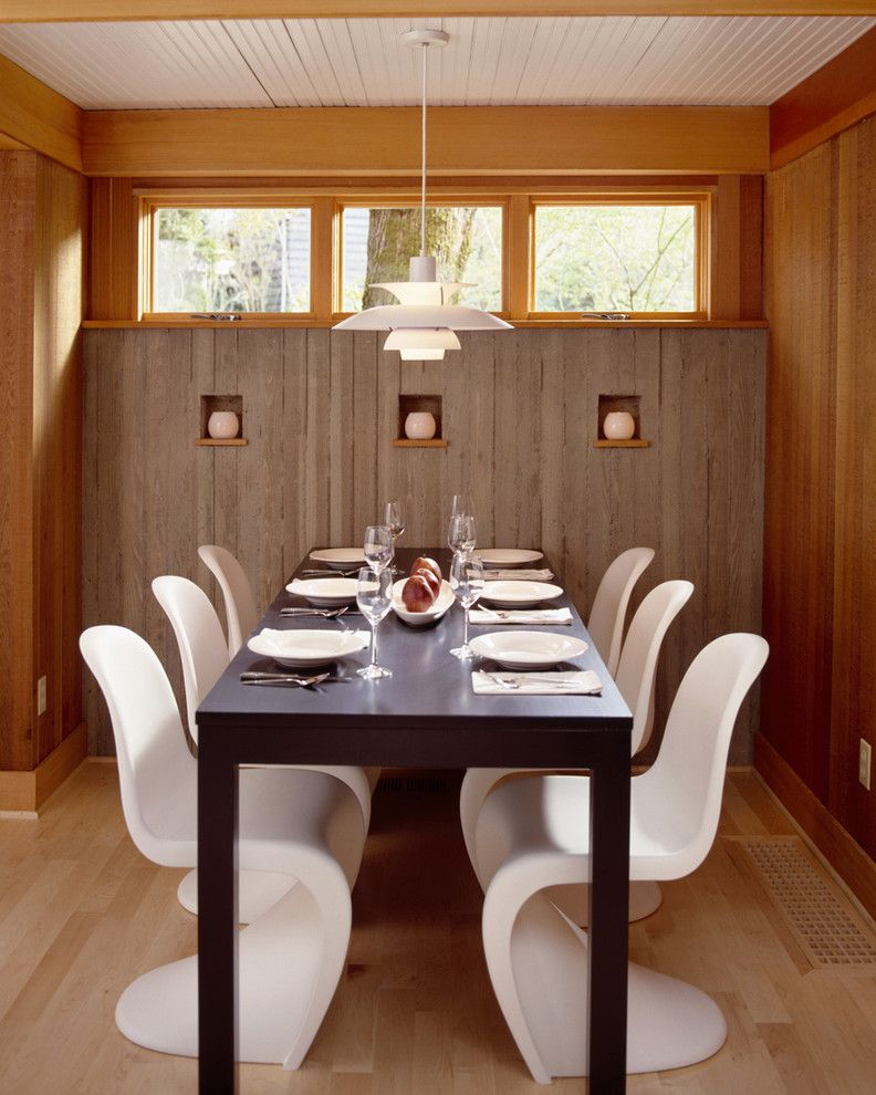 Concept or patio dining dining room with board formed concrete walls modern dining room portland by giulietti schouten architects