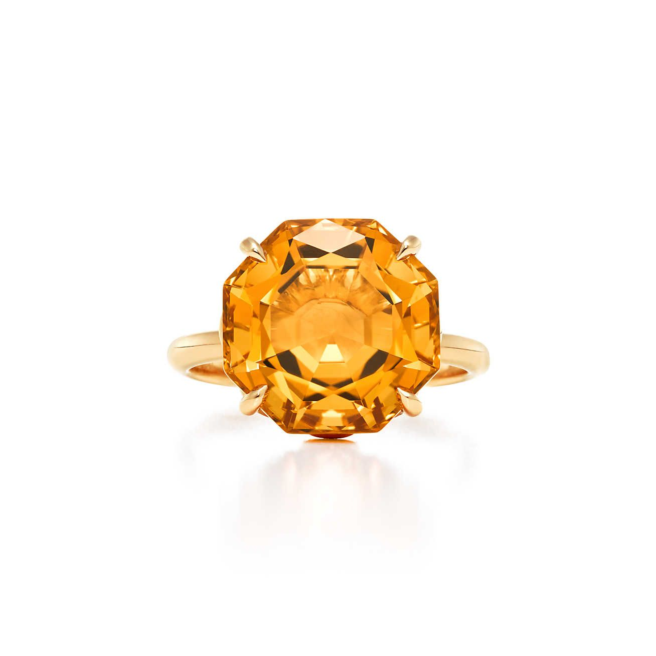 5f37a26be Tiffany Sparklers:Octagonal Citrine Ring. Tiffany Sparklers ring in 18k gold  ...